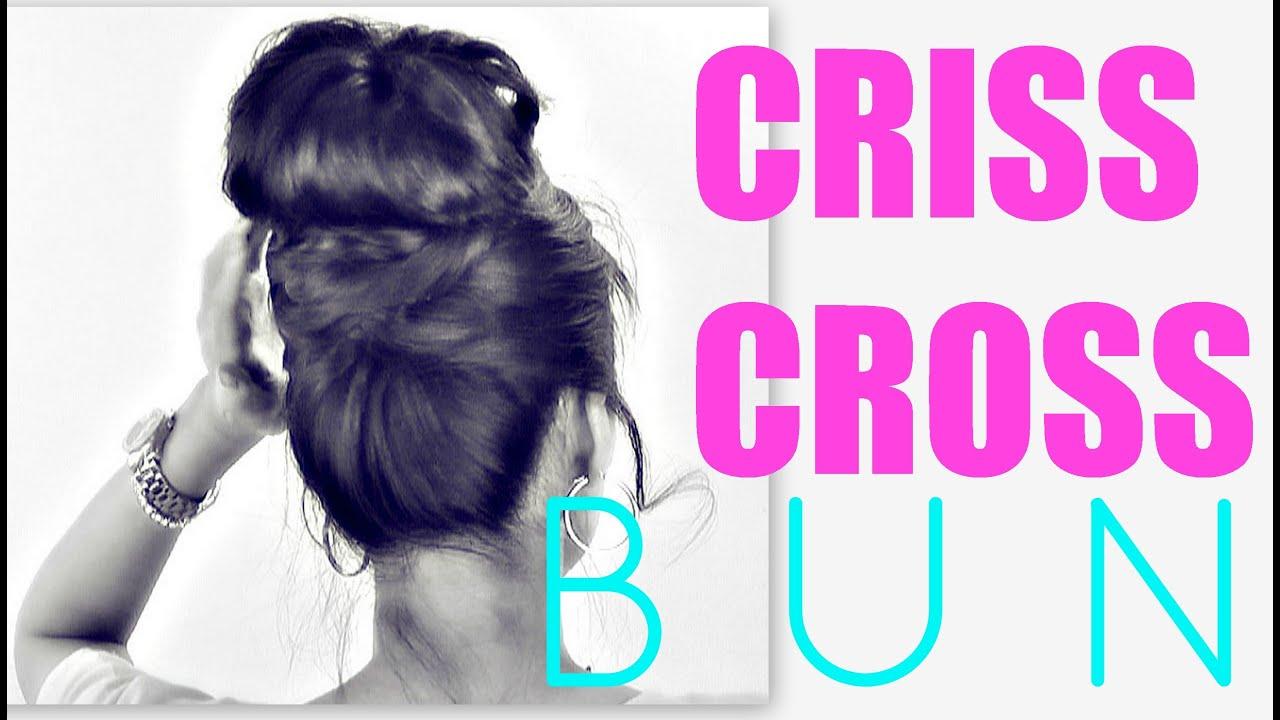 ★cute Bun Hairstyles Criss Cross Updos For Medium Long