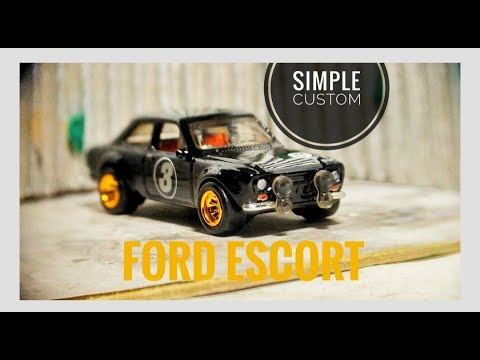 SIMPLE CUSTOM FORD ESCORT HOTWHEELS