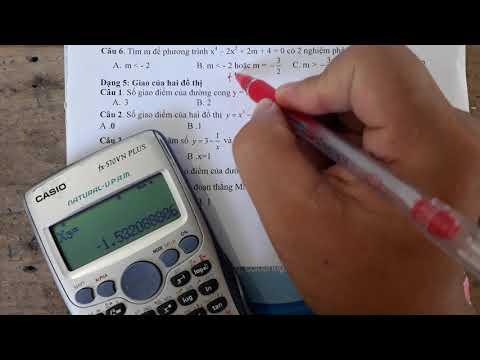 Bài tập trắc nghiệm chương 1 Giải Tích 12 phần cuối