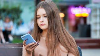 Russian Beautiful Girls on Walking Street in Russia   Part 13
