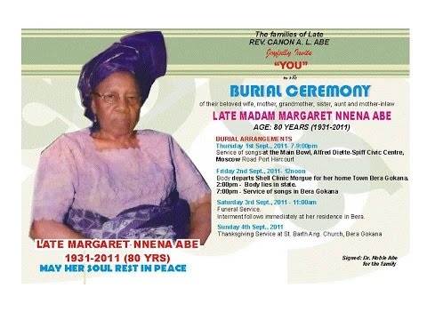 Emmanuel Ezii - Tribute to Sen. Magnus Ngei Abe's Mother Part 1 [Ogoni]