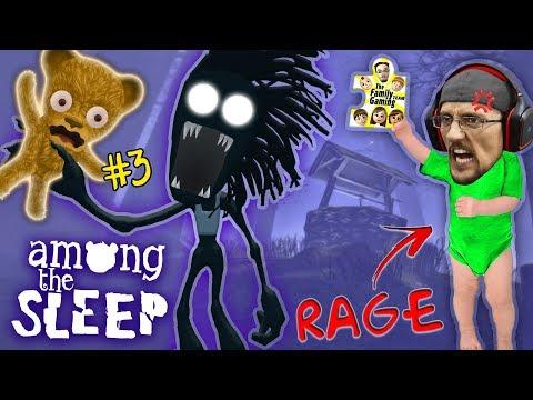 AMONG THE SLEEP Teddy Bear Plays & Shadow Mans HUNGRY! R.I.P !! FGTEEV Super RAGE! (Part 3)