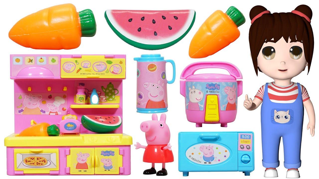 樂樂拆箱:佩佩豬的迷你冰箱玩具