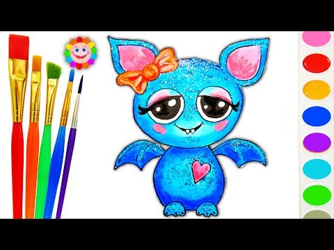 Thumbnail: Coloring Heart Bat Girl Coloring Page - Learning Colors Video for Children