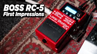 BOSS RC-5 Loop Station Demo and Unboxing!! Electric Guitar Looping MUST HAVE!? | OUT THE BOX