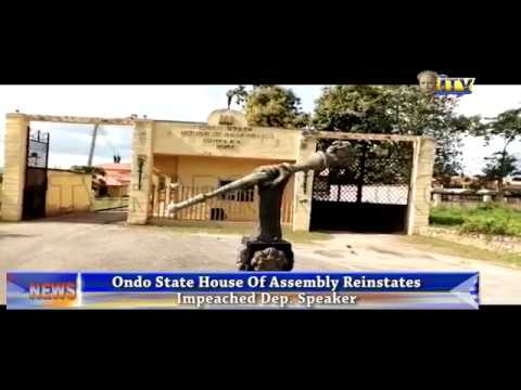 Ondo State House of Assembly reinstates impeached Dep. Speaker
