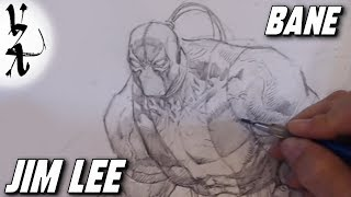 Jim Lee drawing Bane