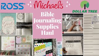 Michael's, Ross, and Dollar Tree Haul | Affordable Creative Arts Bible Journaling Supplies