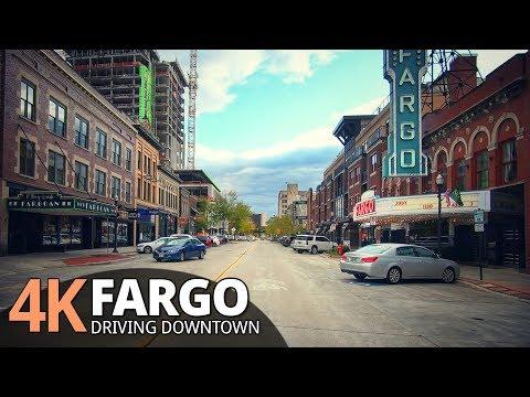 Fargo 4K60fps - Driving Small City - North Dakota, USA