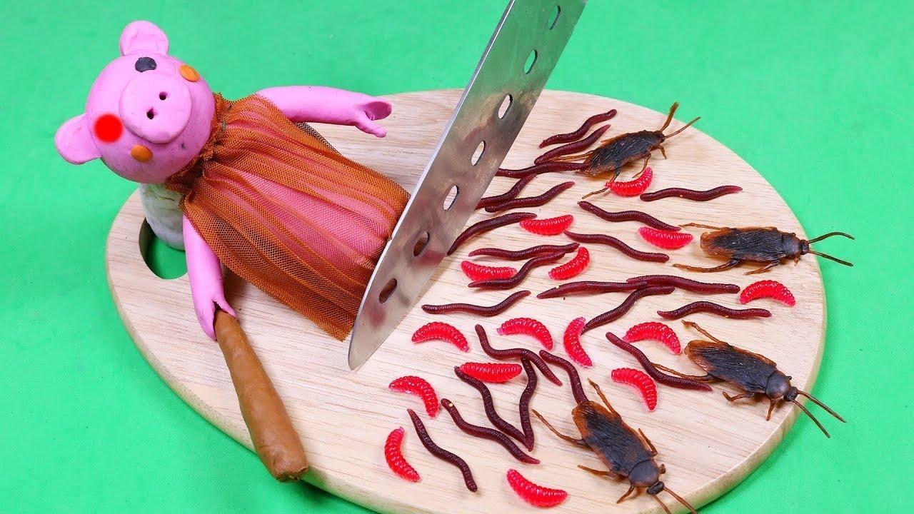 Stop motion Cooking ? How To make PIGGY Food Mukbang ? Funny Videos ASMR Eating 4K