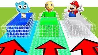 NE RENTREZ PAS DANS LA MAUVAISE PISCINE MINECRAFT !! Gumball, Baldi, Mario | secret base en fr troll