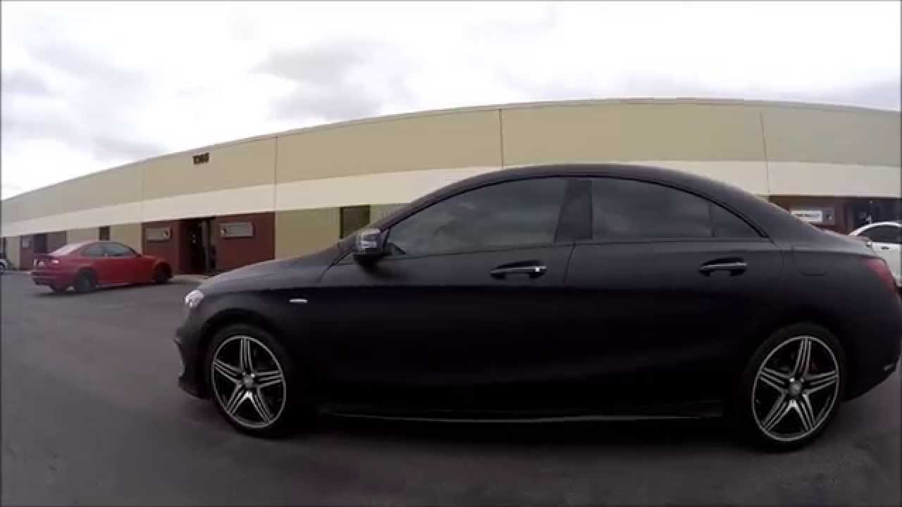 Mercedes benz cla 250 full matte deep black wrap windows for Mercedes benz window tint