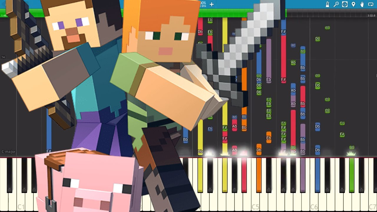 IMPOSSIBLE REMIX - Minecraft Theme Song - Piano Cover - Trap Remix