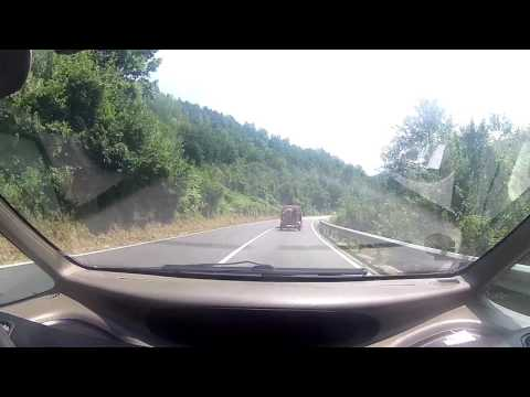 Driving through highlands of Montenegro and Serbia