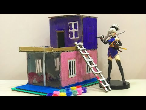 DIY Haha When My K.I.D.S Paint Container Home from Cardboard