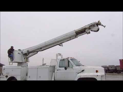 1989 Ford F800 bucket truck for sale | no-reserve Internet auction December 28, 2017