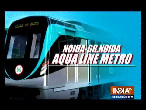 Noida Metro's Aqua Line now open as CM Yogi flags off services from India TV Sector 137 station