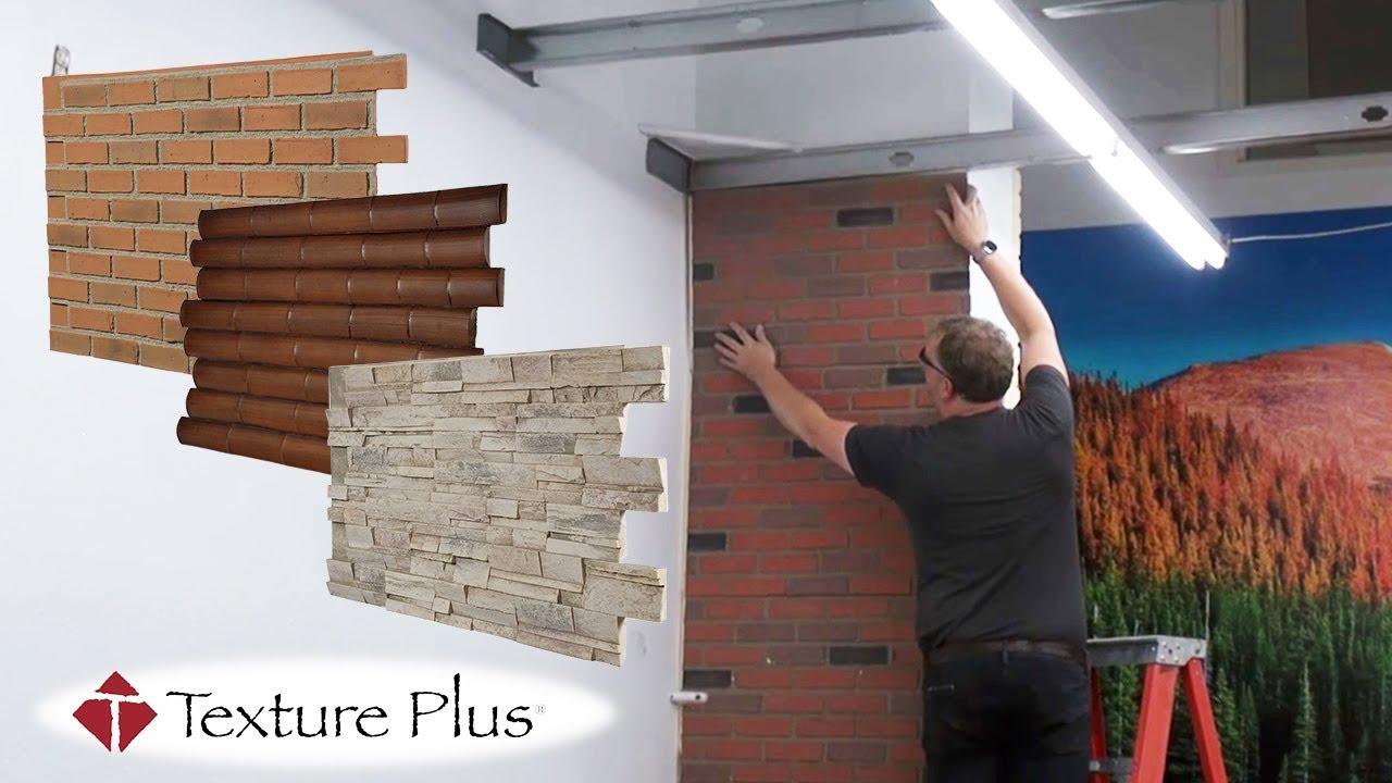 Faux Wall Panels Brick Stone Wood Faux Wall Panels Youtube