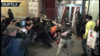 RAW: Mass brawl erupts between Patriot Prayer & Antifa during Portland rally