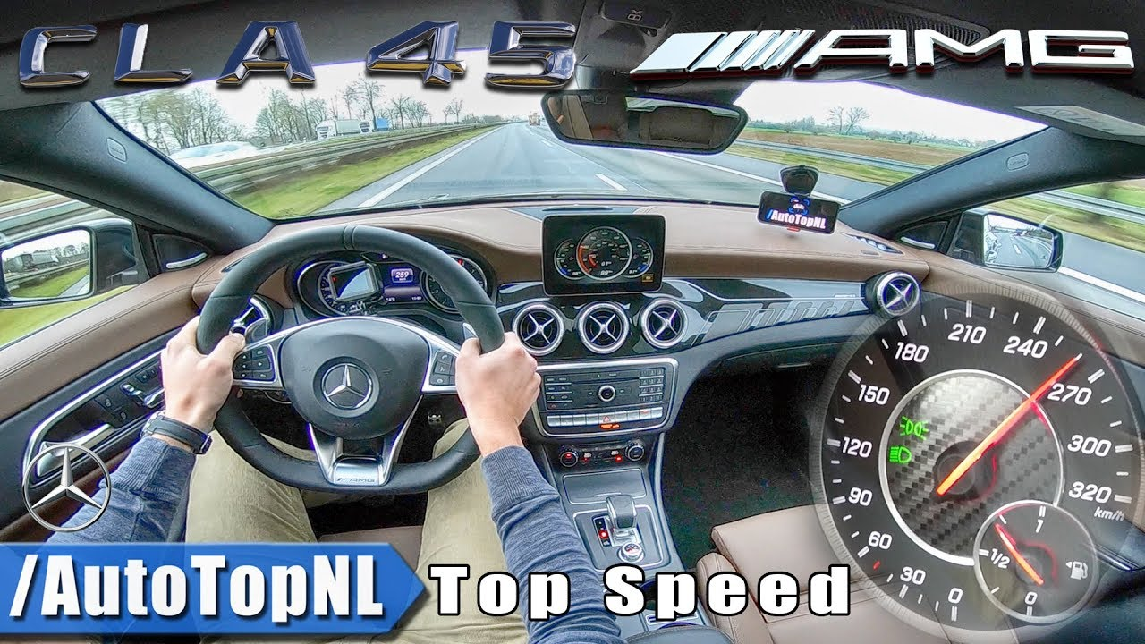 CLA 45 AMG 2018 | ACCELERATION & TOP SPEED ON AUTOBAHN by AutoTopNL