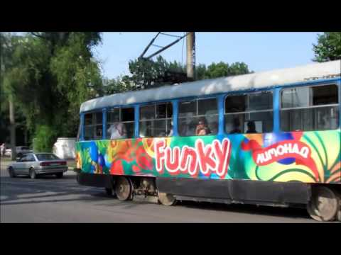 Trams in Almaty, Kazakhstan (streetcars)