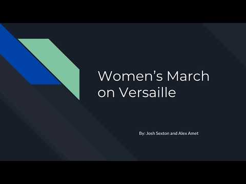 Women's March on Versailles School Project
