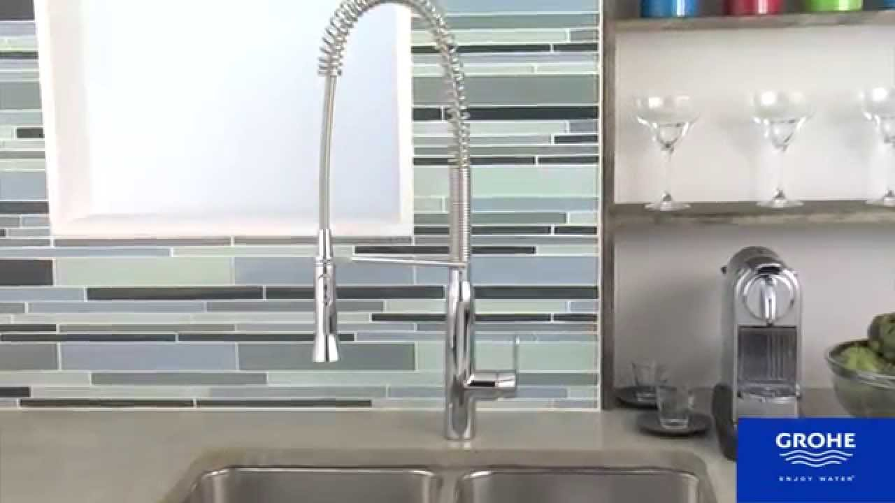 grohe 32951000 k7 semi pro kitchen faucet youtube