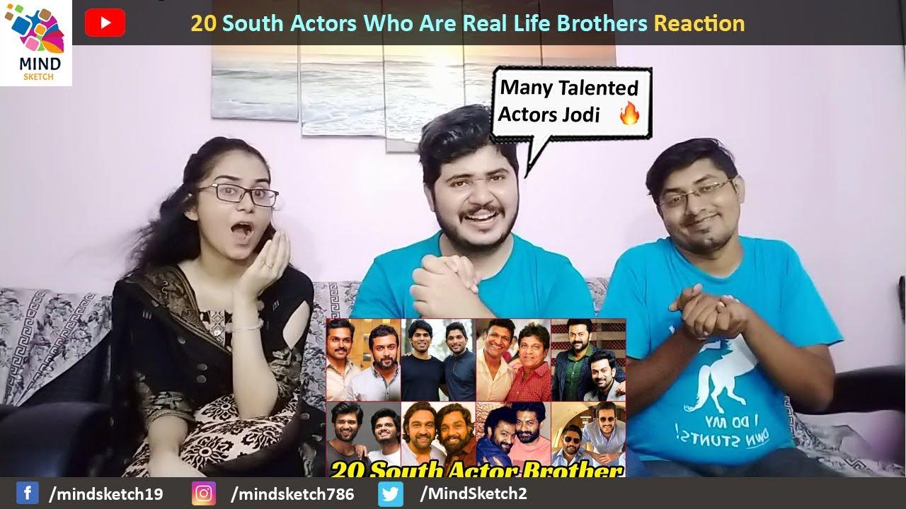 20 South Actors Who Are Real Life Brothers Reaction   Allu Arjun, Ram Charan, Vijay, Mahesh Babu,