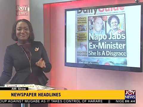AM Show Newspaper Headlines on JoyNews (15-11-17)