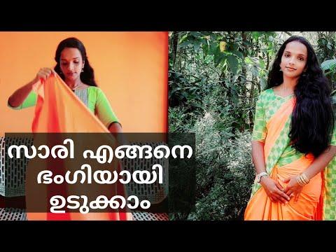 Download How to drape party wear chiffon saree|ഷിഫോൺ സാരി എളുപ്പത്തിൽ എങ്ങനെ ഉടുക്കാം