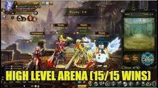 Wartune :- Arena With Our Top Player (Me 72 mil BR, Top Player Nearly 160 Mil BR!) 15/15 Wins