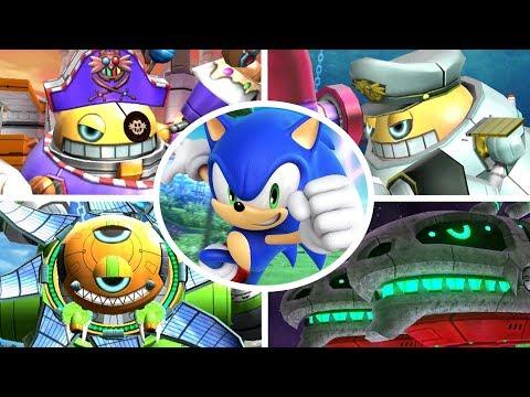 Sonic Colors - All Bosses + Cutscenes (No Damage)