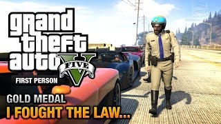 GTA 5 - Mission #41 - I Fought the Law... [First Person Gold Medal Guide - PS4]