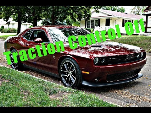 Turning Traction Control  Completely Off 2018 Challenger R/T Scat Pack
