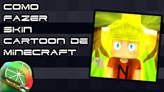 Tutorial-como fazer Haut cartoon de minecraft