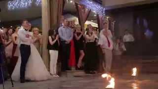 Вогняне шоу на весіллі в ресторані Оскар м.Тернопіль