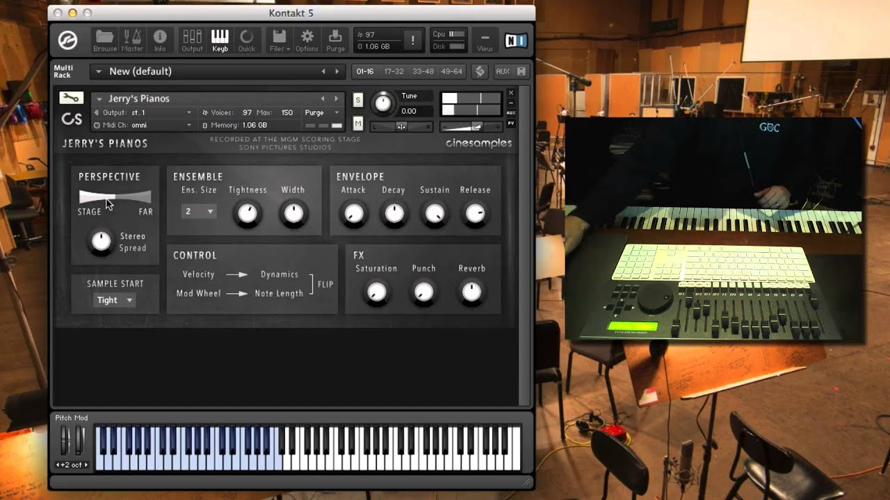 Jerry's Pianos - Cinesamples Free Piano