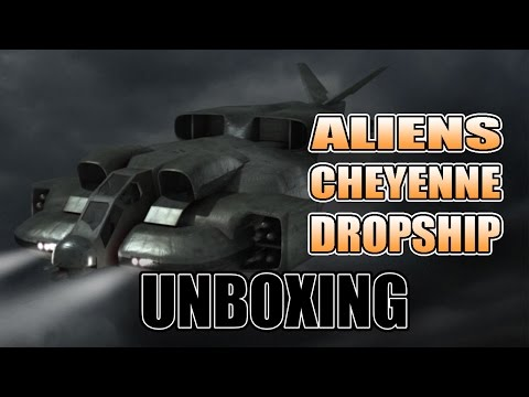 28mm Scale Aliens Cheyenne Dropship For The Tabletop REVIEW AVP
