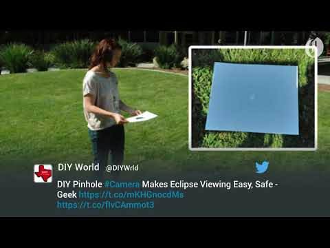 DIY pinhole camera makes viewing the 2017 solar eclipse safe