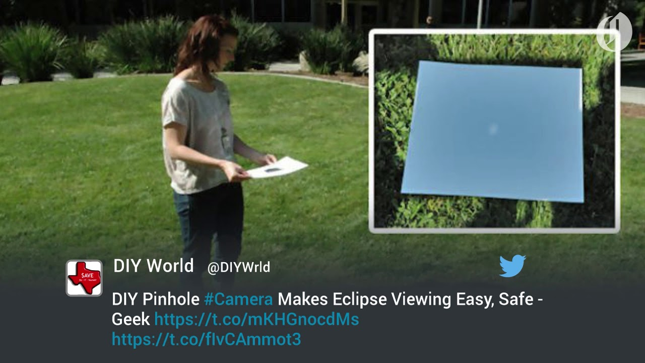 Diy Pinhole Camera Makes Viewing The 2017 Solar Eclipse Safe Youtube