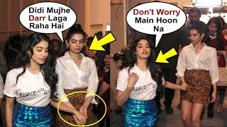 Jhanvi Kapoor Being Protective Of Sister Khushi Kapoor At Vogue Bff Shoot