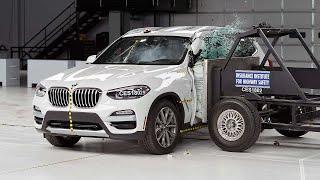 2018 BMW X3 side IIHS crash test