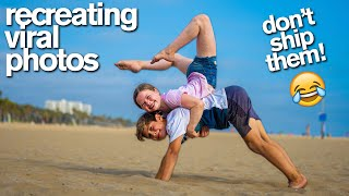 RECREATING VIRAL COUPLE'S PHOTOS Acrobat vs Gymnast