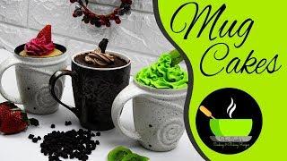 Mug Cakes | 3 Eggless NO-OVEN Mugcakes | 3 Desserts You Can Make In A Mug | Instant Cake In A Mug