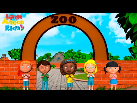 Zoo Song | We're Going to the Zoo | Kindergarten & Preschool Songs| Sing & Dance Little Action Kids