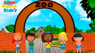 Zoo Song | We're Going to the Zoo | Kindergarten & Preschool Songs| Sing & Dance Little Action Kids