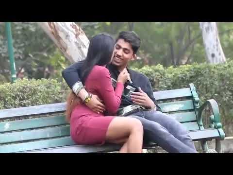 Download Girl Kissing In Garden Boobs Press Smooch Romantic girl 480p