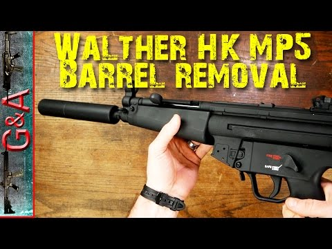 Walther H&K MP5 22lr Barrel Assembly Removal EASY