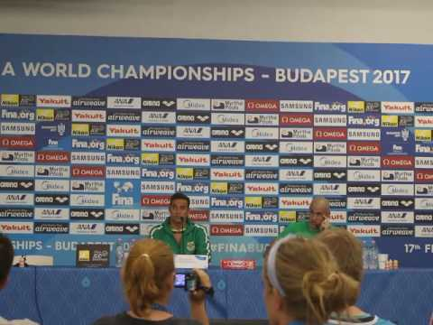 Chad Le Clos and Lazslo Cseh PRESS CONFERENCE Budapest 2017