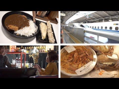 Japan, Day 8.1, Tokyo to Kyoto - Shinkansen 新幹線, Kyoto Hotel & Spa, Kiyamachi Bars, 7-11 Haul [4K]